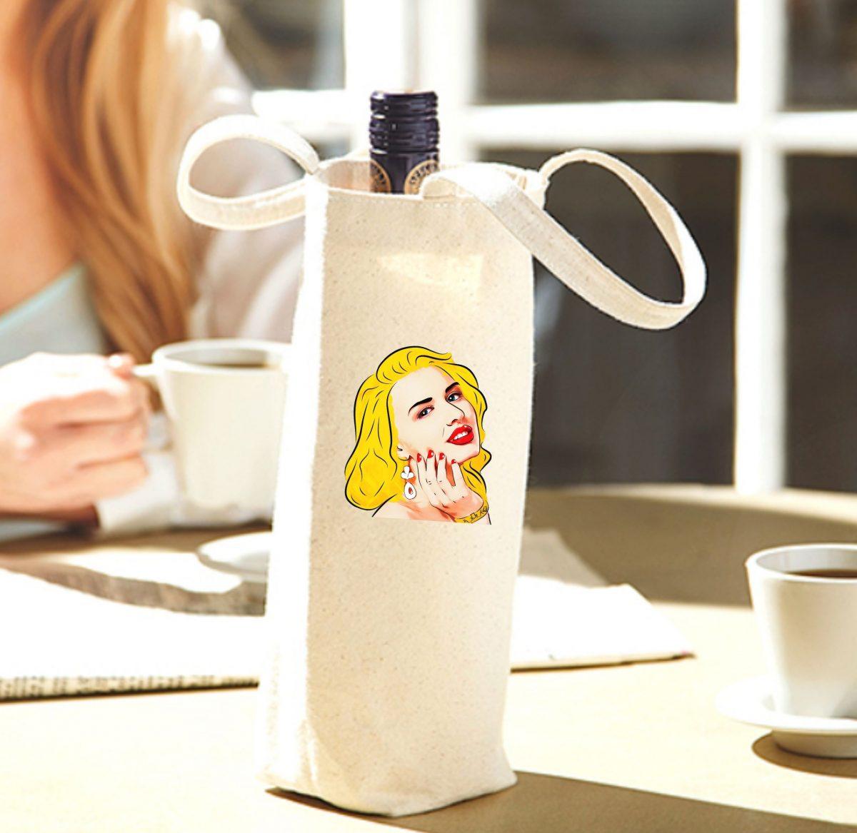 Porte-bouteille – Portrait de Miley Cyrus
