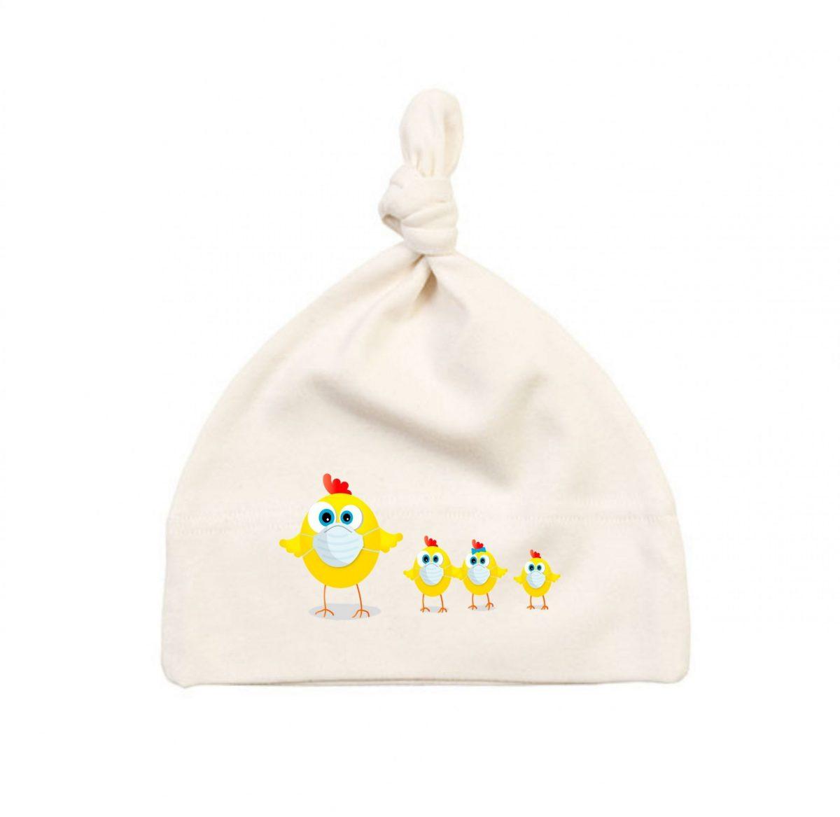 Bonnet Bébé - Maman Poule et ses Poussins