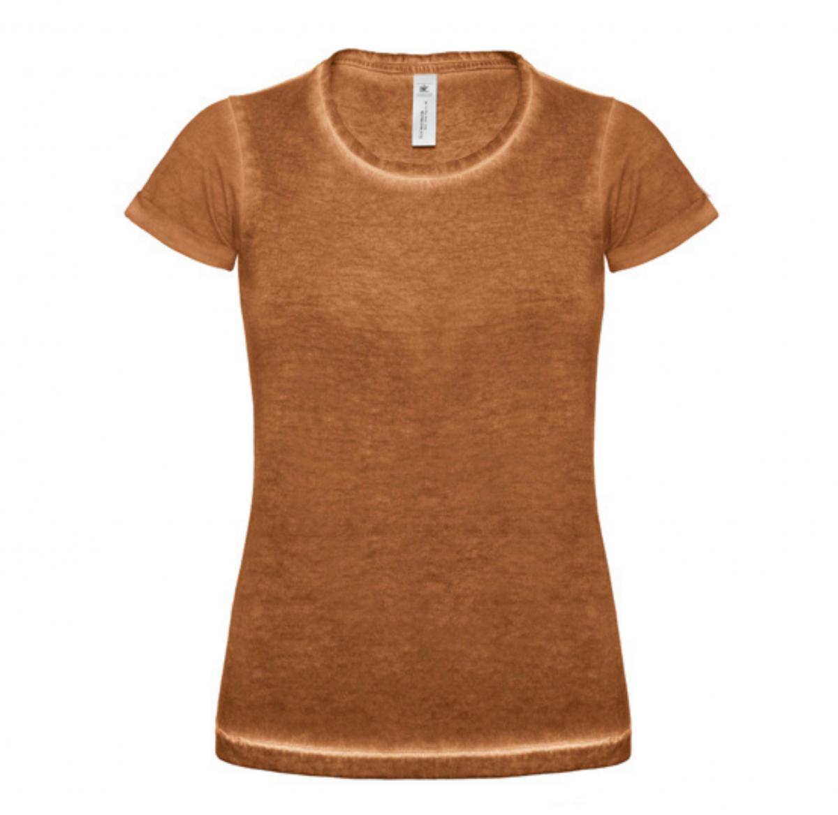 Tee-Shirt Femme Vintage - Cuir fauve