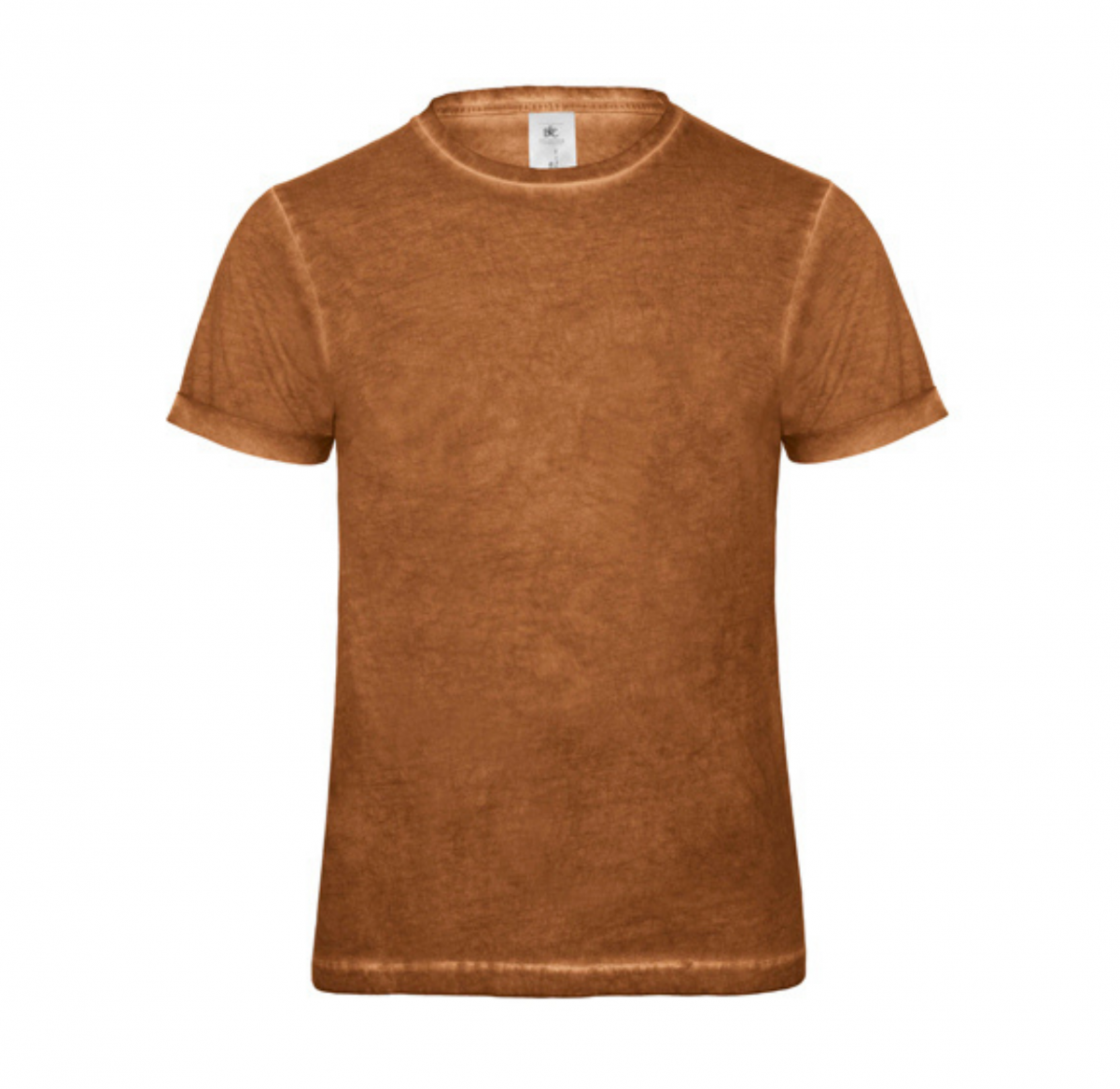 Tee-Shirt Homme Vintage - Cuir fauve